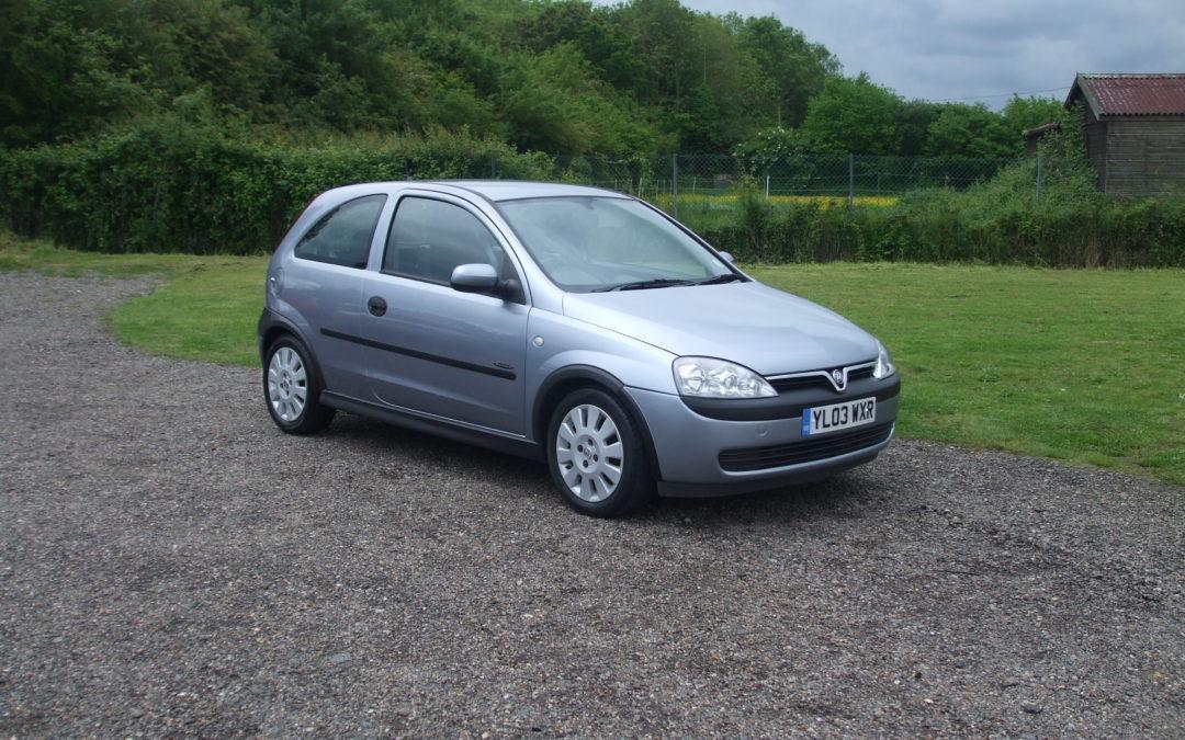 Vauxhall Corsa 1.0 Active (03 Reg) – Sold