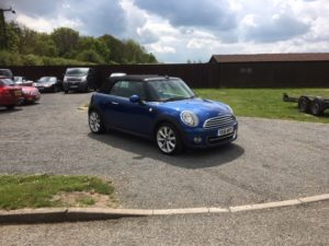 Mini Cooper 1.6 Convertible, (11 Reg) – Sold